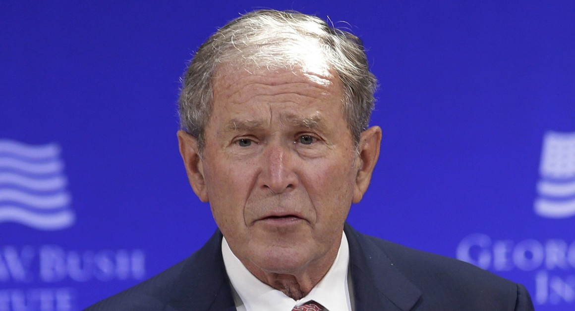 Peace Expert George W Bush Says 'Isolationism' Is Dangerous To Peace